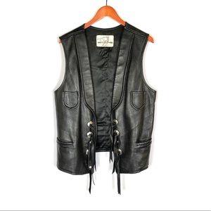 Vintage Jackets & Coats - Vintage Custom Coat Co men's deerskin leather vest